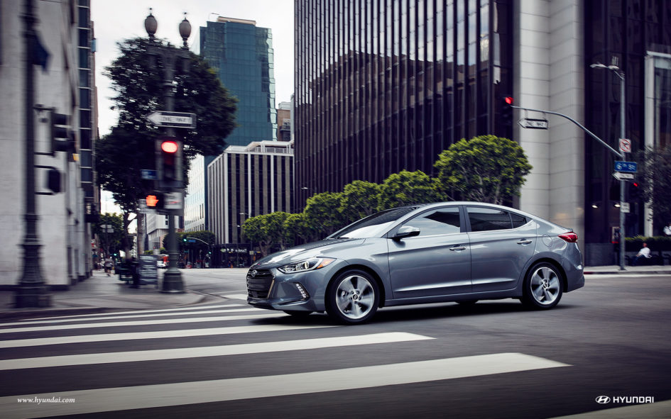 2017 Hyundai Elantra on a city street