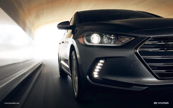 Hyundai Elantra in a tunnel