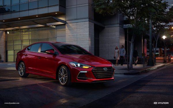 Red 2017 Hyundai Elantra