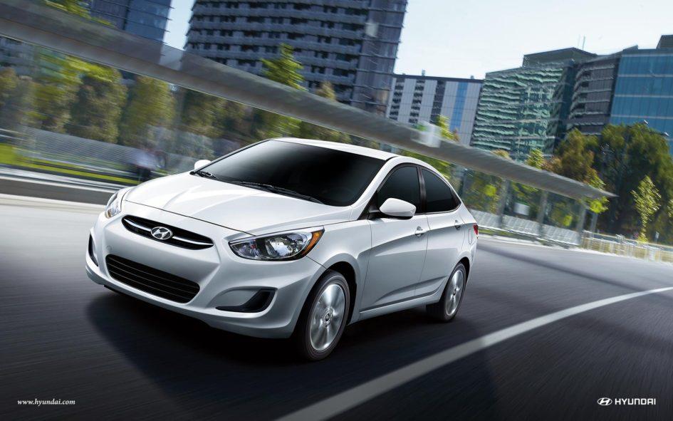 White 2017 Hyundai Accent
