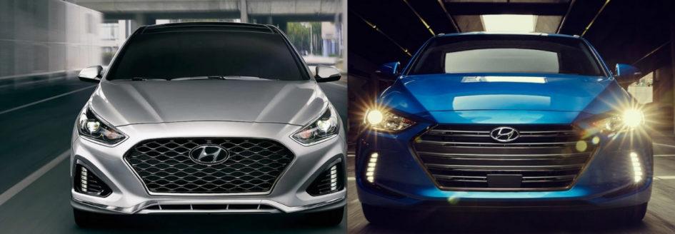 Elantra Vs Sonata >> 2018 Hyundai Sonata Vs 2018 Hyundai Elantra Car Comparison